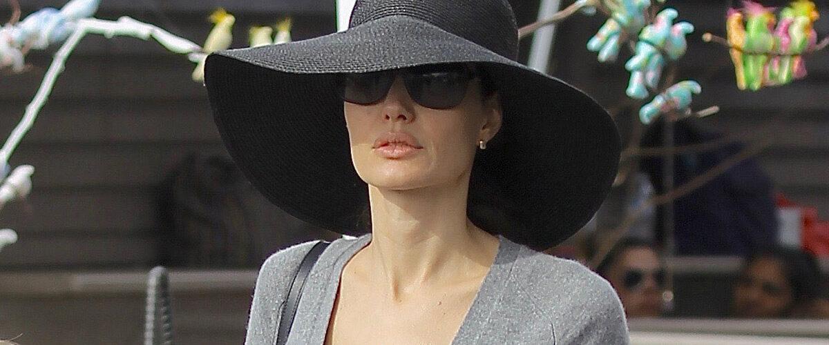 Анджелина Джоли със стилни обувки в небрежно ежедневен стил