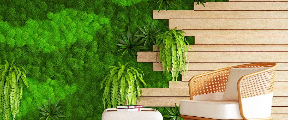 Зелени стени от скандинавски мъх носят хармония и свежест в дома ни