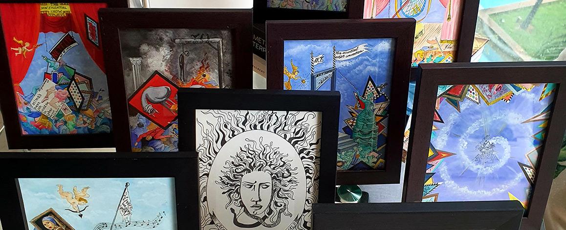 Български художник с провокираща изложба в Сингапур